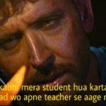 wo kabhi mera student hua karta tha ab shaayad wo apne teacher se aage nikal gaya hrithik roshan in the war
