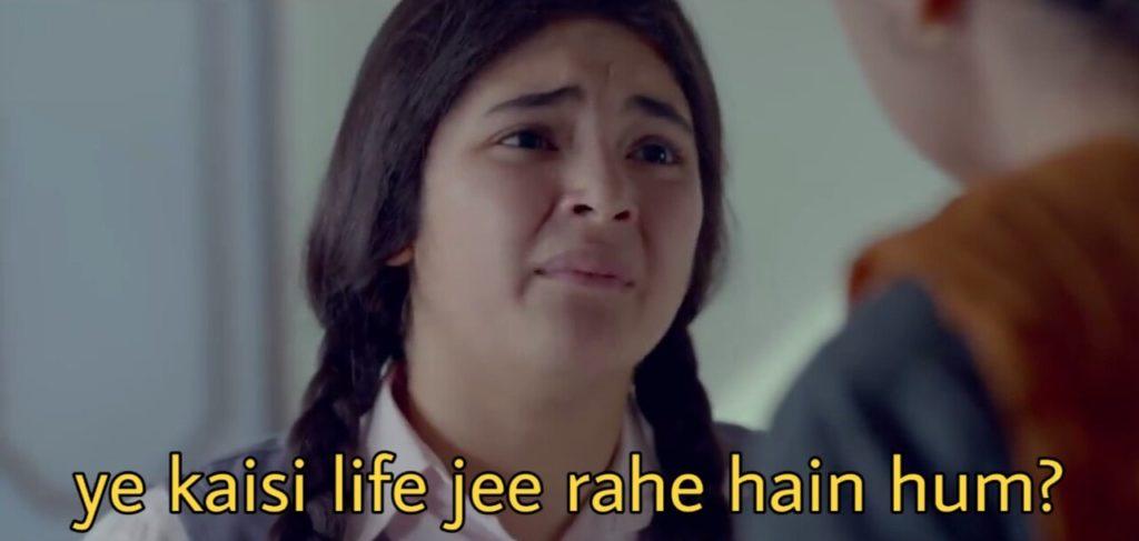 ye kaisi life jee rahe hain hum Zaira Wasim  in secret superstar movie dialogue