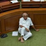 BS Yeddyurappa Sitting On Dharna At The Well of the Assembly Meme