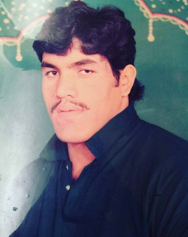Old photo of young great khali