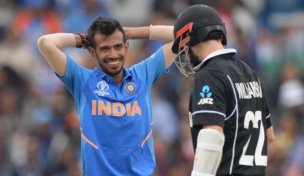 yuzvendra chahal after taking guptills wicket reaction icc cricket world cup 2019